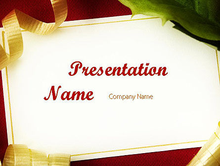 Beautiful Greeting Card PowerPoint template