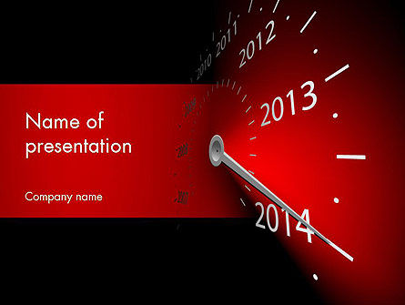 2014 Year Speedometer PowerPoint Template