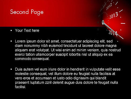 2014 Year Speedometer PowerPoint Template Slide 2