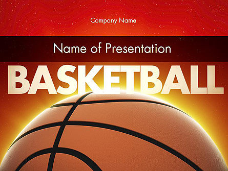 Basketball Planet PowerPoint Template, 11510, Sports — PoweredTemplate.com