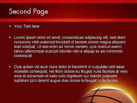 Basketball Planet PowerPoint Template, Slide 2, 11510, Sports — PoweredTemplate.com