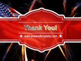 American Flag with Fireworks PowerPoint Template#20