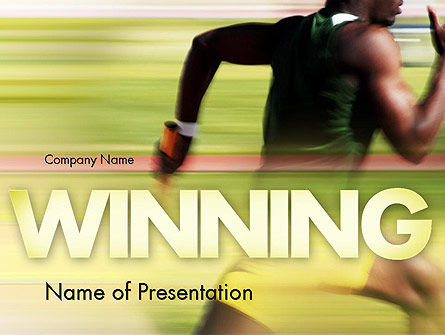 Sprinter PowerPoint Template, 11513, Sports — PoweredTemplate.com