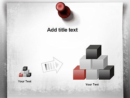 Sticky Note on Gray Wall PowerPoint Template Slide 13