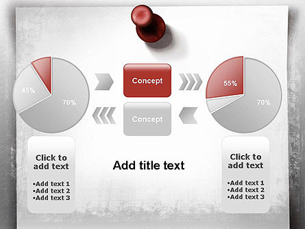Sticky Note on Gray Wall PowerPoint Template Slide 16
