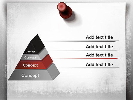 Sticky Note on Gray Wall PowerPoint Template, Slide 4, 11514, Abstract/Textures — PoweredTemplate.com