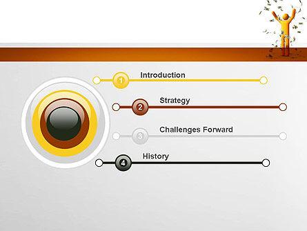 Dollar Rain PowerPoint Template Slide 3