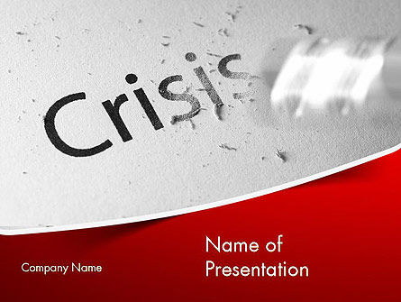 Business Concepts: Erasing Crisis PowerPoint Template #11516