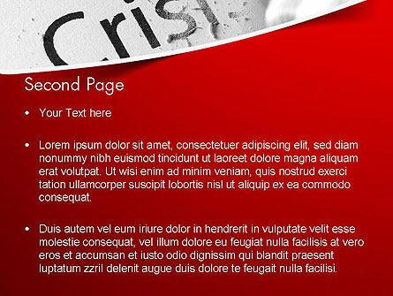 Erasing Crisis PowerPoint Template Slide 2