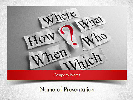 Curiosity Questions PowerPoint Template
