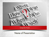 Business Concepts: Curiosity Questions PowerPoint Template #11517