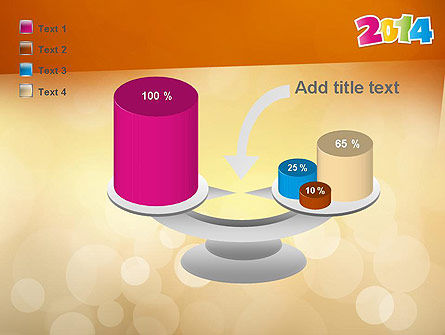 Colorful Happy New Year 2014 PowerPoint Template Slide 10