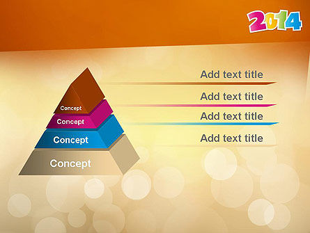 Colorful Happy New Year 2014 PowerPoint Template Slide 12
