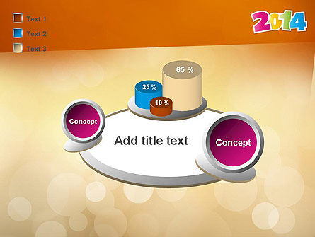 Colorful Happy New Year 2014 PowerPoint Template Slide 16