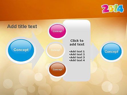 Colorful Happy New Year 2014 PowerPoint Template Slide 17