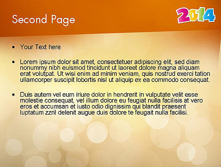 Colorful Happy New Year 2014 PowerPoint Template, Slide 2, 11519, Holiday/Special Occasion — PoweredTemplate.com