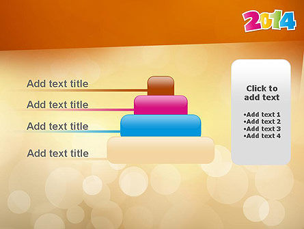 Colorful Happy New Year 2014 PowerPoint Template Slide 8