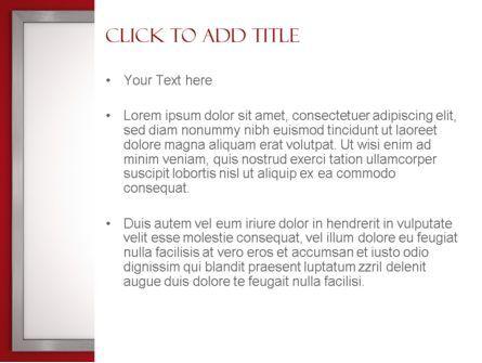 Silver-Chrome Frame PowerPoint Template, Slide 3, 11523, Abstract/Textures — PoweredTemplate.com