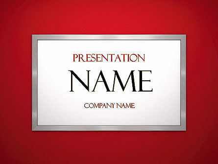 Abstract/Textures: Silver-Chrome Frame PowerPoint Template #11523