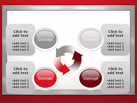 Silver-Chrome Frame PowerPoint Template Slide 9