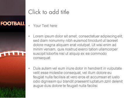 American Football on Grass PowerPoint Template, Slide 3, 11524, Sports — PoweredTemplate.com