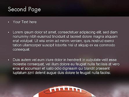 American Football on Grass PowerPoint Template, Slide 2, 11524, Sports — PoweredTemplate.com