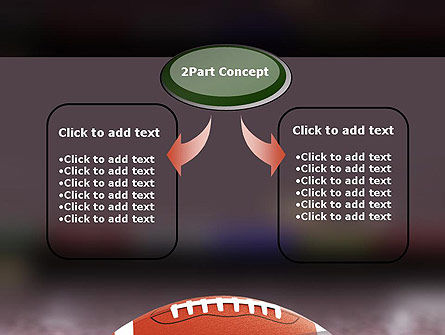American Football on Grass PowerPoint Template, Slide 4, 11524, Sports — PoweredTemplate.com