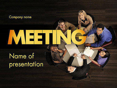 Project Meeting PowerPoint Template