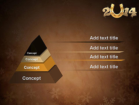 2014 with Golden Horseshoe PowerPoint Template Slide 12