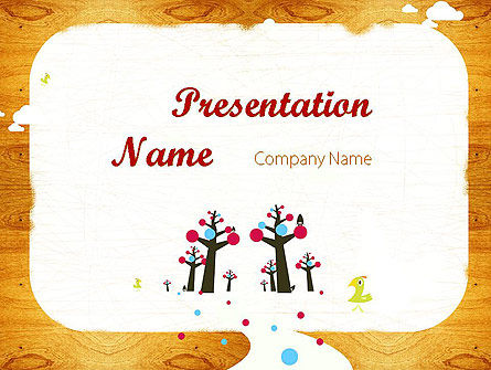 Enchanted Forest PowerPoint Template, 11528, Education & Training — PoweredTemplate.com