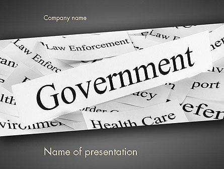 Government PowerPoint Template, 11529, General — PoweredTemplate.com