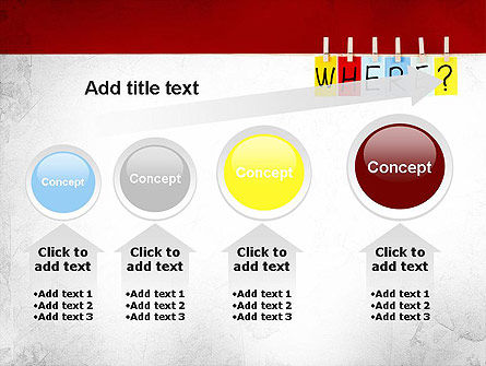 Where Question PowerPoint Template Slide 13