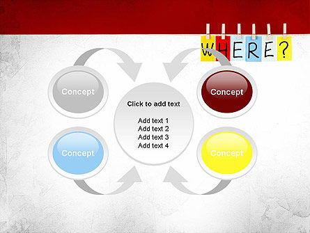 Where Question PowerPoint Template Slide 6