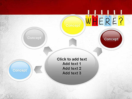 Where Question PowerPoint Template Slide 7