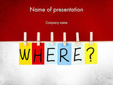 Education & Training: Where Question PowerPoint Template #11530