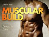 Sports: Muscular Build PowerPoint Template #11531