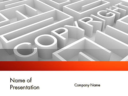 Intellectual Property Maze PowerPoint Template, 11532, Legal — PoweredTemplate.com