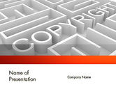 Legal: Intellectual Property Maze PowerPoint Template #11532