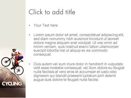 Biking Up Mountain PowerPoint Template, Slide 3, 11534, Sports — PoweredTemplate.com