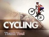 Biking Up Mountain PowerPoint Template#20