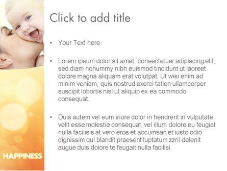 Happy Maternity PowerPoint Template, Slide 3, 11535, People — PoweredTemplate.com