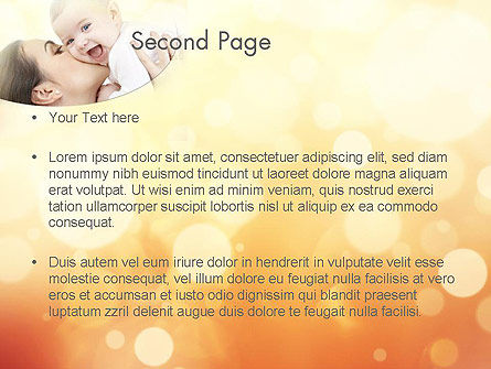 Happy Maternity PowerPoint Template, Slide 2, 11535, People — PoweredTemplate.com