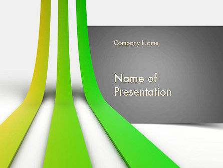 Growing Lines PowerPoint Template, 11536, Abstract/Textures — PoweredTemplate.com