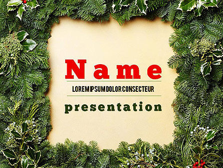 Christmas Frame PowerPoint Template, 11537, Holiday/Special Occasion — PoweredTemplate.com