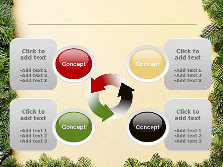 Christmas Frame PowerPoint Template Slide 9