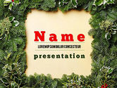 Holiday/Special Occasion: Christmas Frame PowerPoint Template #11537