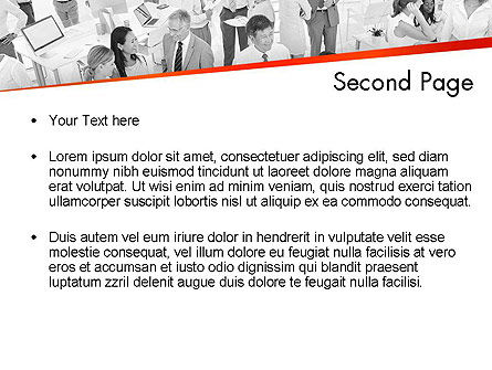 Communicating People PowerPoint Template, Slide 2, 11538, People — PoweredTemplate.com
