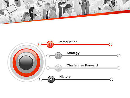 Communicating People PowerPoint Template, Slide 3, 11538, People — PoweredTemplate.com