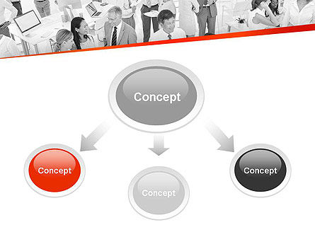 Communicating People PowerPoint Template, Slide 4, 11538, People — PoweredTemplate.com