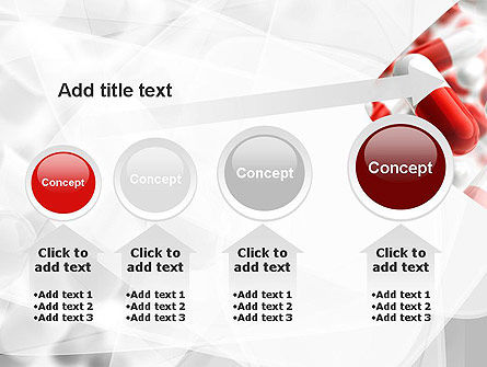 Red and White Pills PowerPoint Template Slide 13